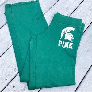 MICHIGAN STATE SPARTANS Pink VS Sweatpants Small